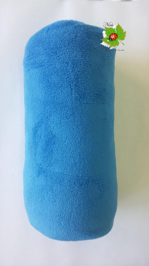 Coperta plaid in pile Marta Mazzotto singolo 125x155 cm. Col. Azzurro.A988