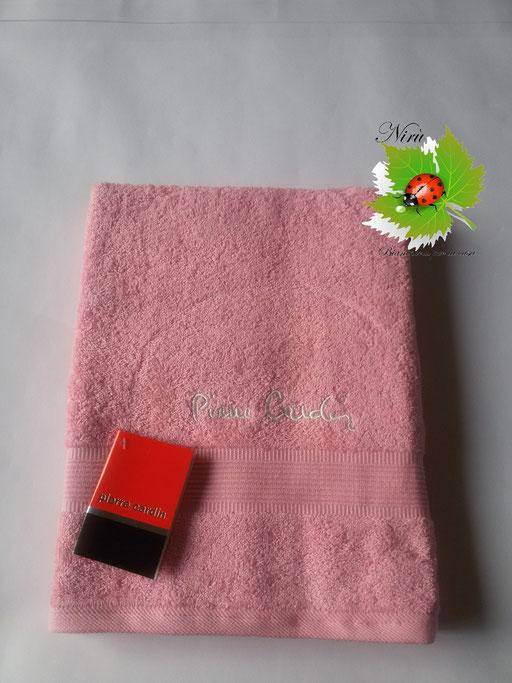 Asciugamano Pierre Cardin 1+1 col. Rosa Art.A115