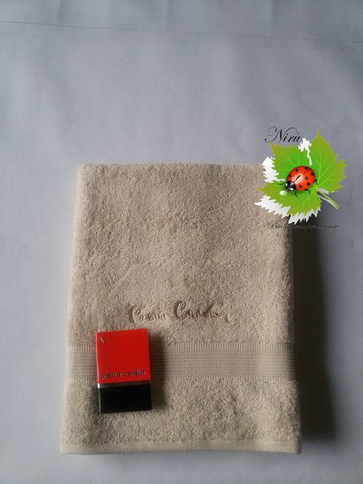 Asciugamano Pierre Cardin 1+1 col. Panna Art.A115