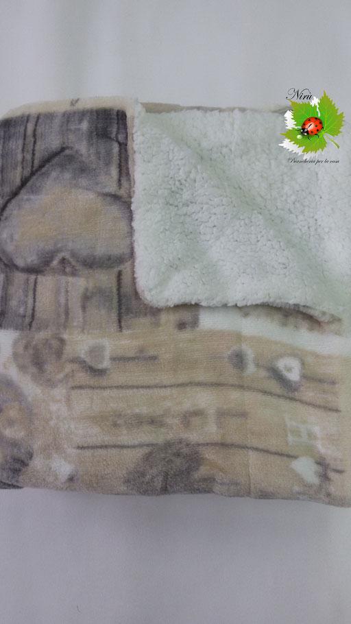 Plaid in pile agnellato caldissimo stampati matrimoniale 200x220 cm.Col.Grigio.B133