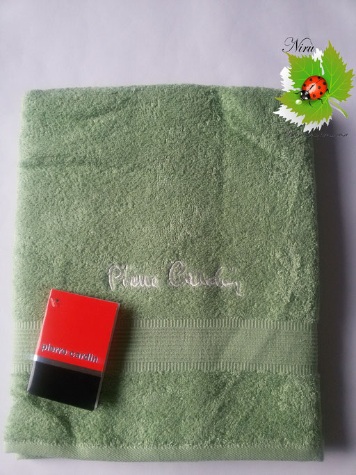 Asciugamano Pierre Cardin 1+1 col.Verde Art.A115