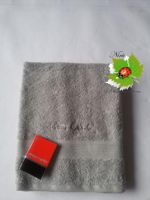 Asciugamano Pierre Cardin 1+1 col. Grigio Chiaro Art.A115