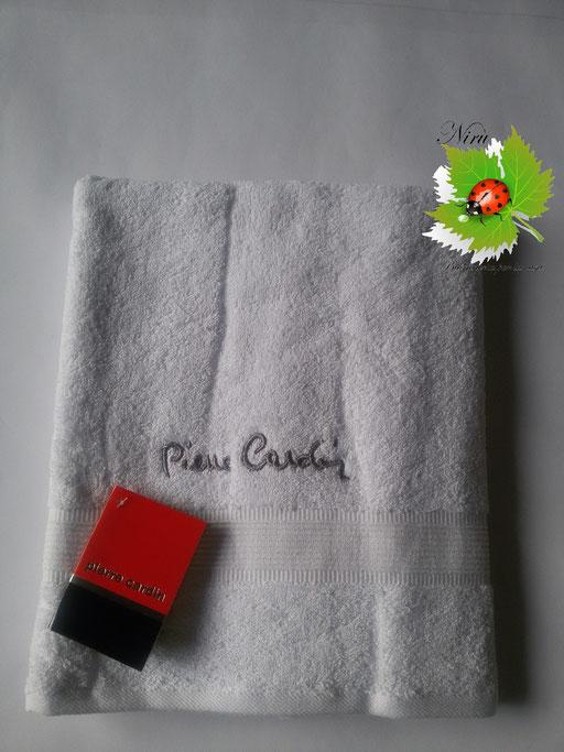 Asciugamano Pierre Cardin 1+1 col. Bianco Art.A115