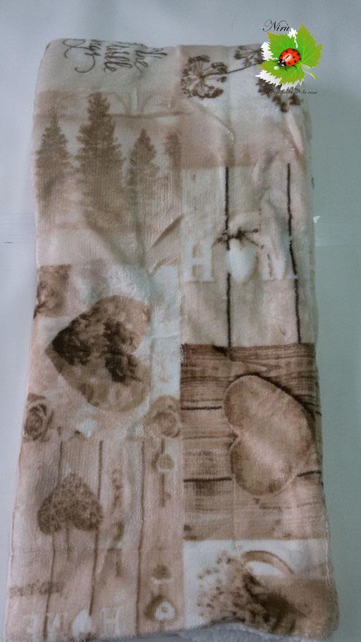 Plaid in pile agnellato caldissimo stampati matrimoniale 200x220 cm.Col.Tortora.B133