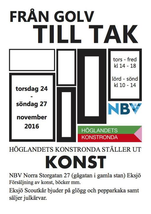 Group show Från golv till tak, Höglandets konstronda – NBV Gallery 2016