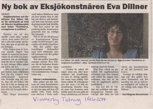 Ny bok av Eksjökonstnären Eva Dillner Vimmerby Tidning 2/1/2014