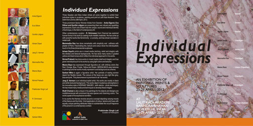 Individual Expressions, Ravindra Bhavan Lalit kala Akademi, National Academy of Fine Art, New Delhi, India. 2012