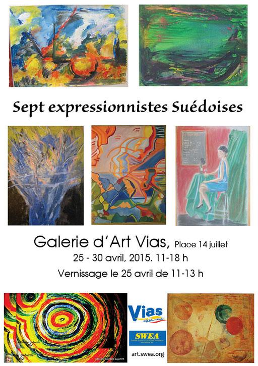 Sept expressionnistes Suédoises, Galerie d'Art Vias, France 2015