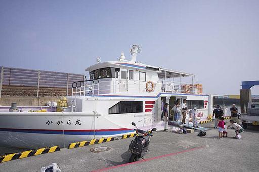 定期船「かから丸」(加唐島)