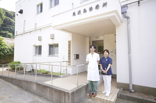 診療所には医師が常駐し、島に住む看護師さんが働いています(馬渡島)