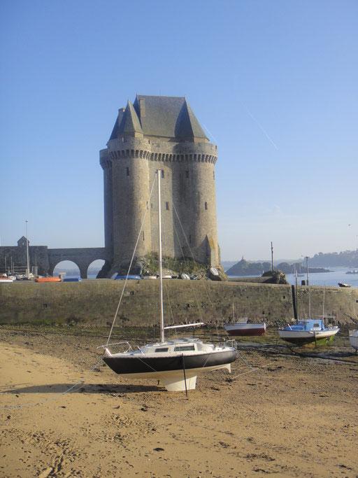 Tour Solidor, marée basse...