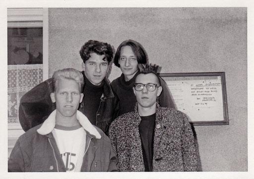 Chainreaction - 06.06.1989 (v.l.n.r.: Dirk Schmalen, Oliver Adenaw, Berno Pfeiffer, Hardy Hanzen)