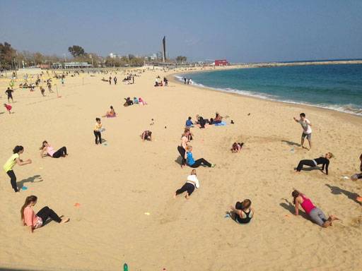 Beach Workout Barcelona MO&MACE