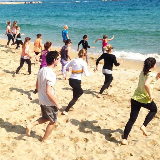 Beach Fitness Run Barcelona MO&MACE