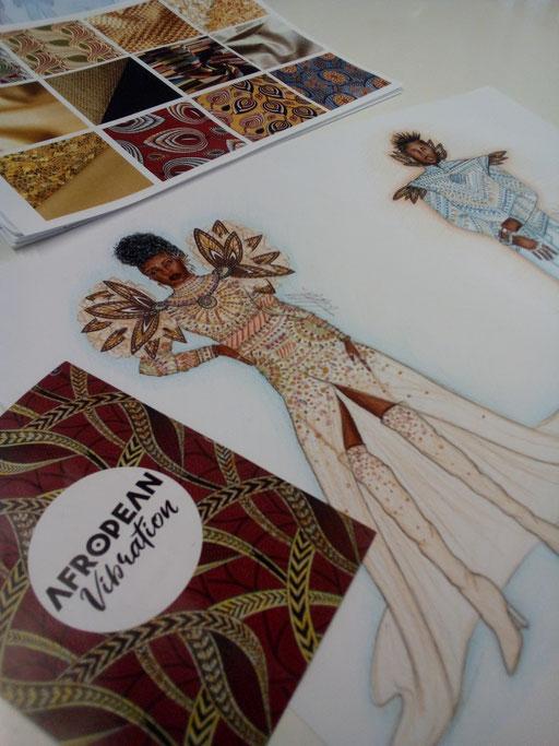 Modezeichnungen mit konkreteren Ideen.