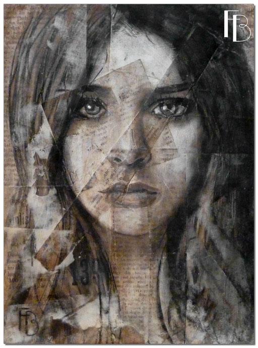 Portrait 12- Série Stuc (vendu)