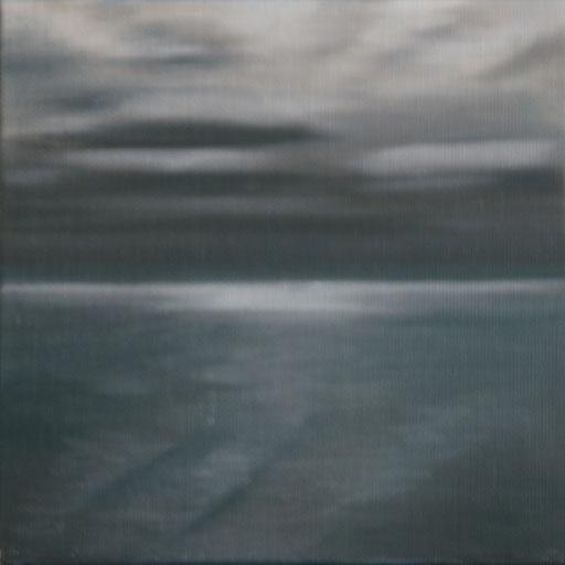 Punta Arenas Chile_Pazifik II, Öl auf Nessel, 15 x 15 cm