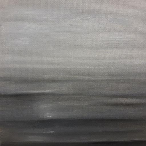 Irgendwo 05,Öl auf Nessel, 15 x 15 cm