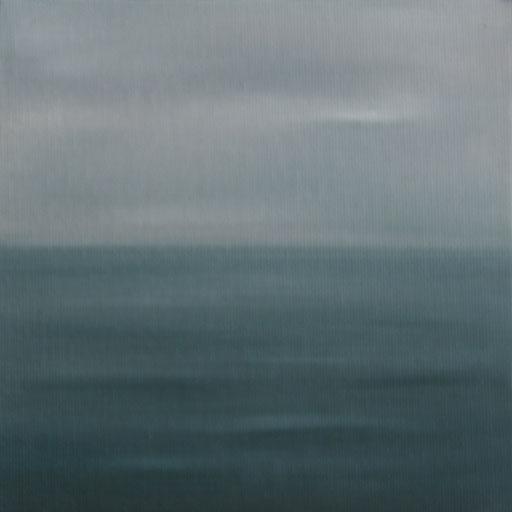 Tierra del Fuego Chile_Pazifik 2, Öl auf Nessel, 15 x 15 cm