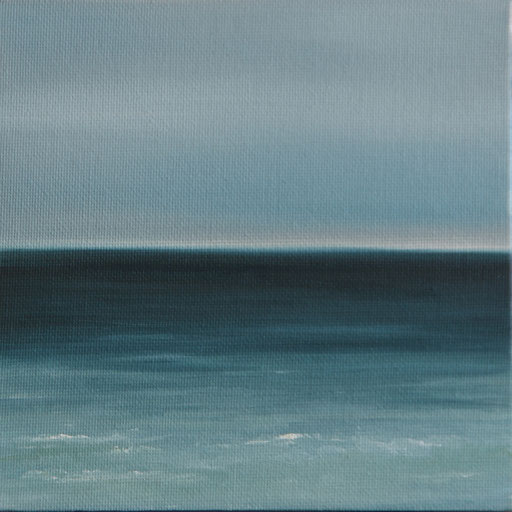 Tangalle Sri Lanka_Indischer Ozean, Öl auf Nessel, 15 x 15 cm