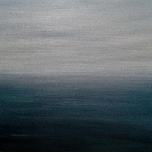 Tierra del Fuego 02 Chile_Pazifik, Öl auf Nessel, 15 x 15 cm