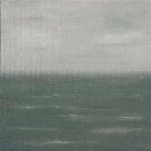 Nilaveli Sri Lanka_Indischer Ozean 1, Öl auf Nessel, 15 x 15 cm