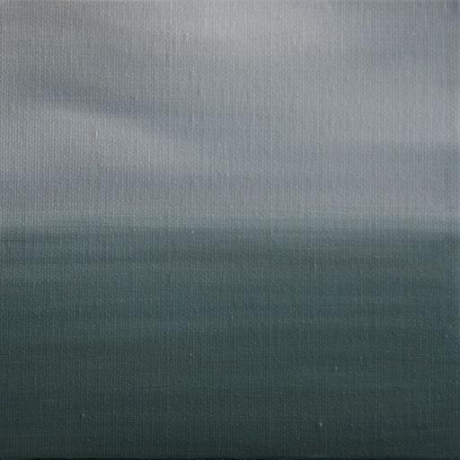 Puerto Natales Chile_Pazifik, Öl auf Nessel, 15 x 15 cm