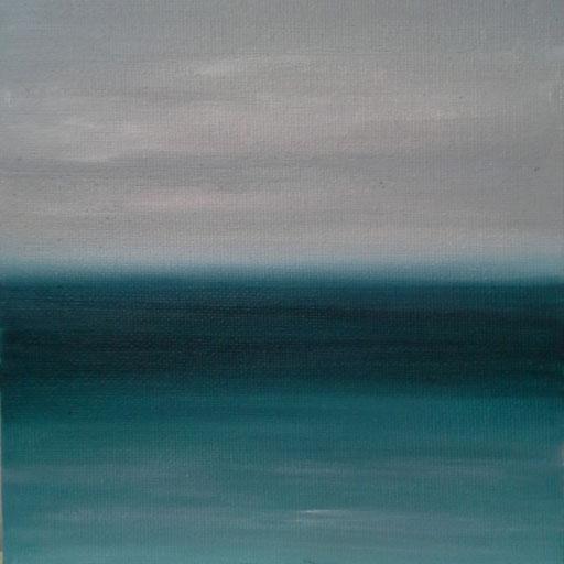 Sri Lanka_Indischer Ozean, Öl auf Nessel, 15 x 15 cm