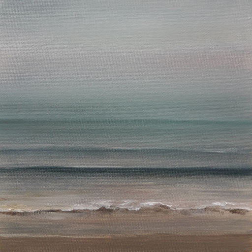 Nilaveli Sri Lanka_Indischer Ozean 3, Öl auf Nessel, 15 x 15 cm