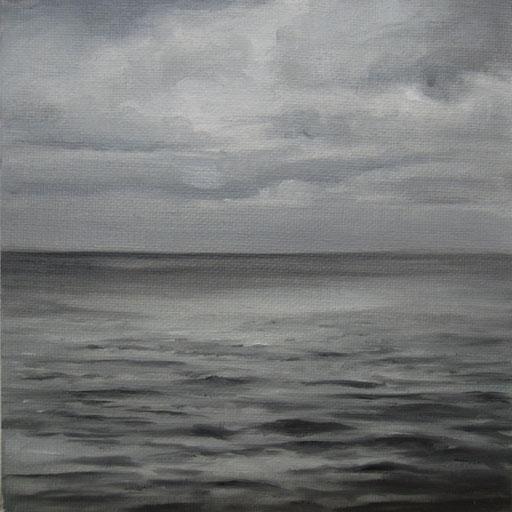 Portugal_Atlantik_ Öl auf Nessel, 15 x 15 cm