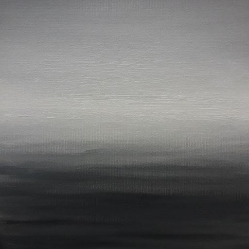 Irgendwo 01,Öl auf Nessel, 15 x 15 cm