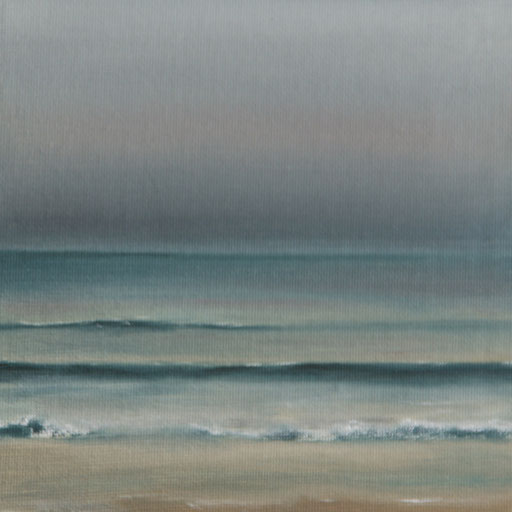 Nilaveli Sri Lanka_Indischer Ozean 2, Öl auf Nessel, 15 x 15 cm