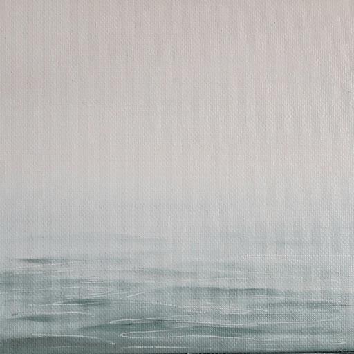 Kroatien_Mittelmeer02_Öl auf MDF-Block, 15 x 15 cm