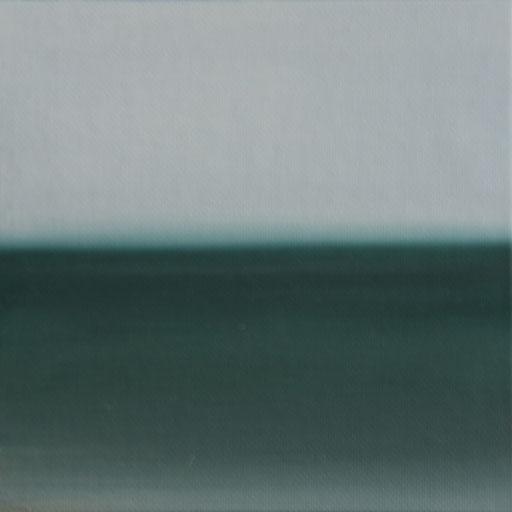 Tierra del Fuego Chile_Pazifik, Öl auf Nessel, 15 x 15 cm