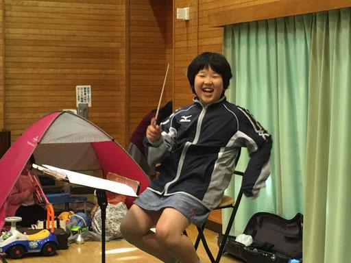 こちらは演奏会第Ⅰ部の指揮者、宍戸達也氏(笑)