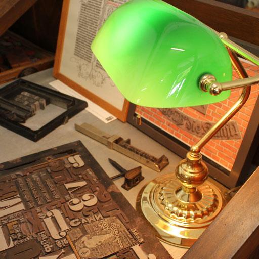 Drucken mit Holzbuchstaben