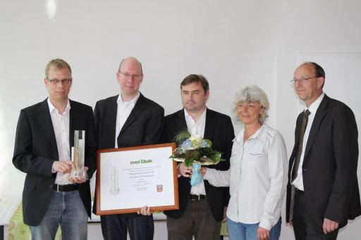 Stefan Brill, Jörg Brill, Detlef Reimelt, Bgm. Frau Daske, Herr Riemer,