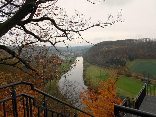 Blick vom Weserskywalk.