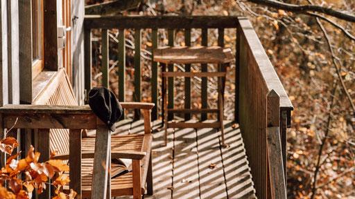 Balkon Baumhaus Sollingblick, Bild: Melanie Többe