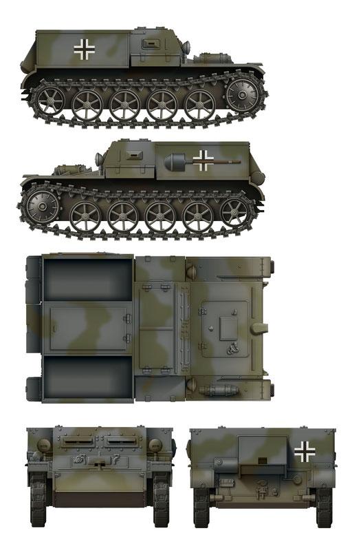 Das Werk Gepanzerter Munitionsschlepper VK3.02 Colour Profile #1