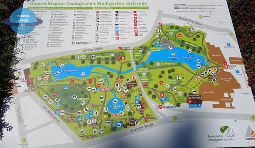 Parkplan Zoologischer Stadtgarten Karlsruhe