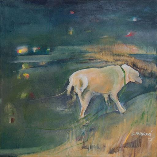Ztratil se pes IV * akryl na plátně * 40/40