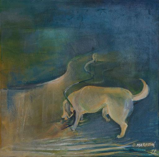Ztratil se pes II * akryl na plátně * 40/40