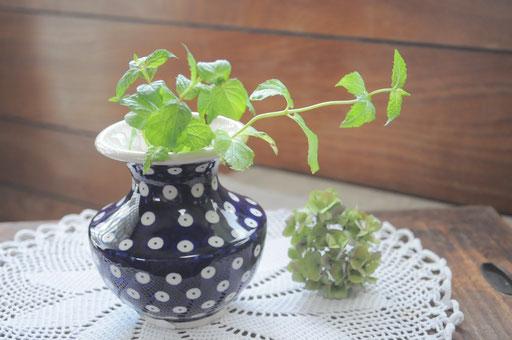 花瓶:¥2600 ハーブを飾って食卓へ