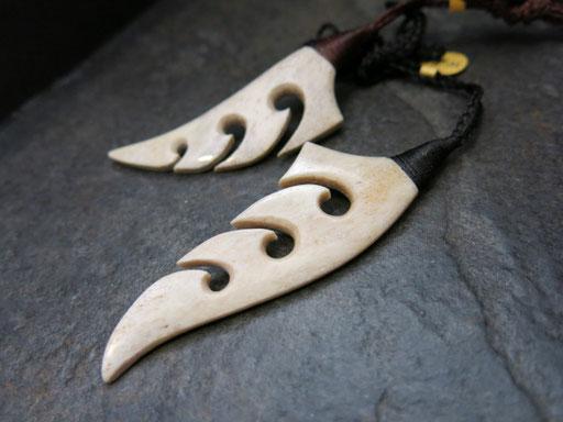 #60 Silver fern / Whale bone / sold