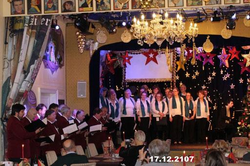 17.12.2107 Chor Weihnachtsfeier mit Freunden