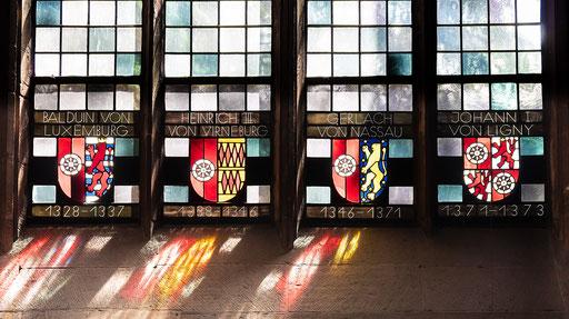 Lichtspiele an den Domfenstern