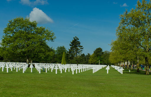 The World War II Normandy American Cemetery and Memorial bei Colleville-sur-Mer
