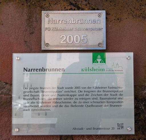 Info zum Narrenbrunnen, Külsheim, TBB