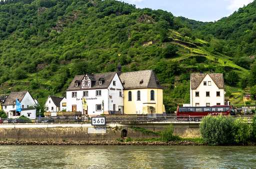 Klosterschänke und Klosterkirche haben einen gemeinsamen Eingang